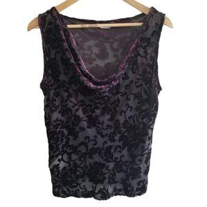 Muriel Dombret boutique silk burnout tank